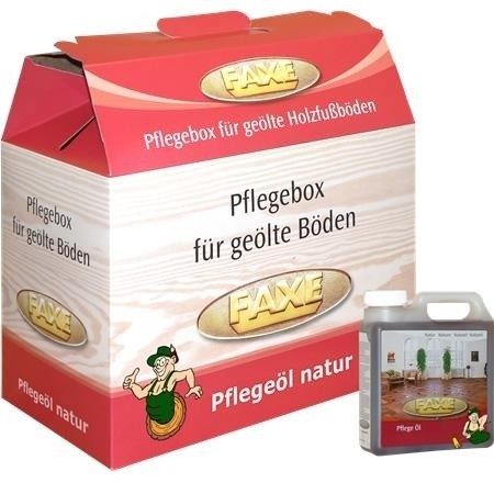 FAXE Bodenpflegebox mit Pflegeöl natur